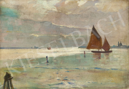 Unknown painter, first third of the 20th - Venetian Lagoon
