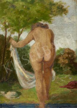 Ismeretlen festő - Fürdő után