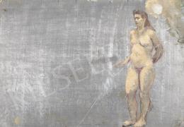 Ismeretlen festő - Női akt az ürességben