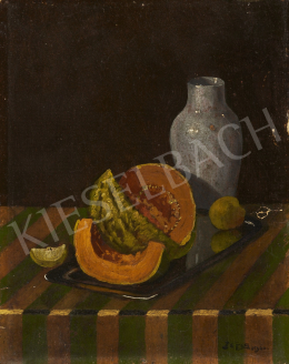 Pettes, József - Still Life with Musk-Melon, 1920