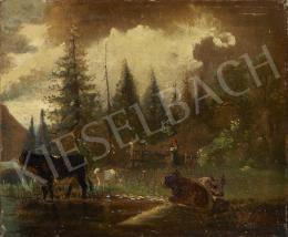 Ismeretlen osztrák festő, 19. század második  - Osztrák táj
