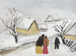 Dilinkó Gábor - Village with Couple in Winter (Piece of Advice)