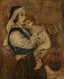 Ismeretlen festő, 20. század első harmada - Anya gyermekével