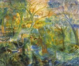 Paizs-Goebel Jenő - Tavasz a szentendrei kertben