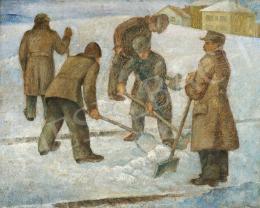 Lengyel G. jelzéssel - Havat lapátoló férfiak, 1938