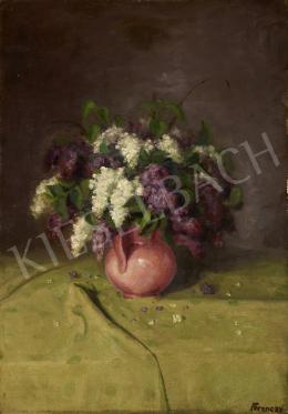 Ismeretlen festő Ferenczy jelzéssel, 20. század első harmada - Rózsacsendélet vázában