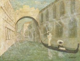 Ismeretlen festő E. Englert jelzéssel - Velence (Sóhajok hídja)