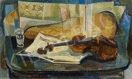 Ismeretlen festő N. S. jelzéssel - Műtermi csendélet, 1960
