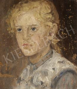 Ismeretlen festő, 20. század második harmada - Szőke kislány