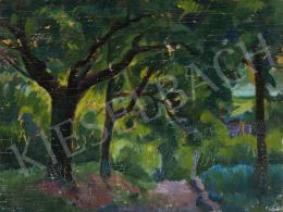 Ismeretlen festő, 20. század második harmada - Út a fák alatt