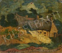 Ismeretlen festő, 20. század második harmada - Parasztház szántással (Hommage a Van Gogh)