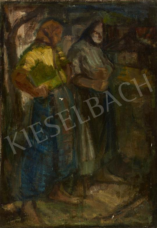 Eladó  Ismeretlen festő, 20. század második harmada - A falu hírmondói festménye