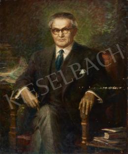 Ismeretlen magyar festő - Szemüveges férfi (Szakasits Árpád?)