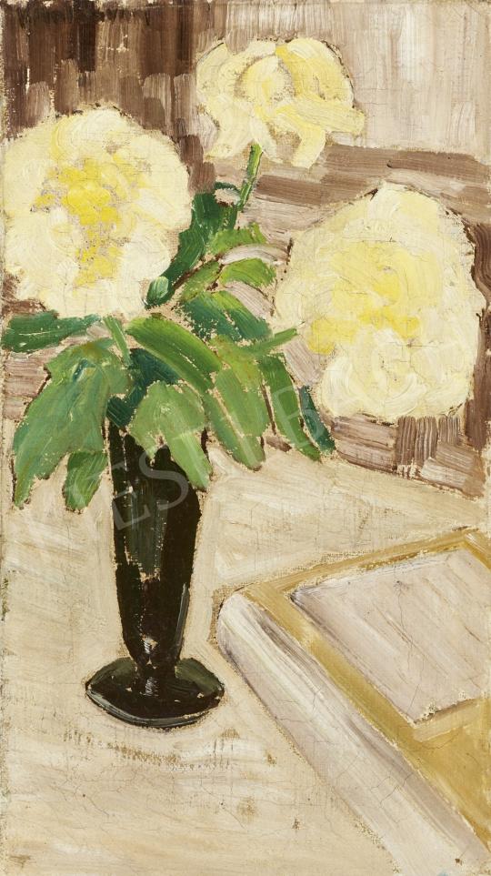 Eladó  Ismeretlen festő, 20. század harmadik harmada (román?) - Virágcsendélet festménye