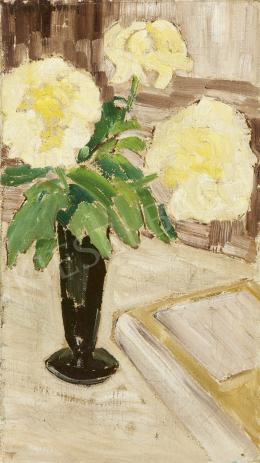 Ismeretlen festő, 20. század harmadik harmada (román?) - Virágcsendélet