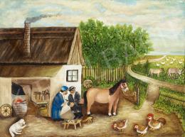 Ismeretlen festő, 20. század harmadik harmada - Kovácsműhely