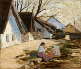 Ismeretlen magyar festő, 20. század első harmada - Napfényes udvar