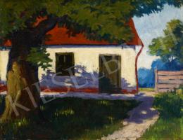 Ismeretlen magyar festő, 20. század második harmada - Piros tetős házikó