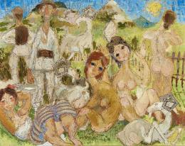 Ismeretlen magyar festő, 20. század második harmada - Pásztorok