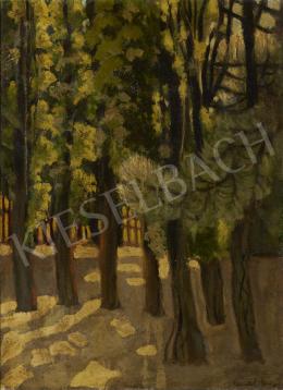Ismeretlen festő olvashatatlan jelzéssel, 20. század első harmada - Napfényes udvar