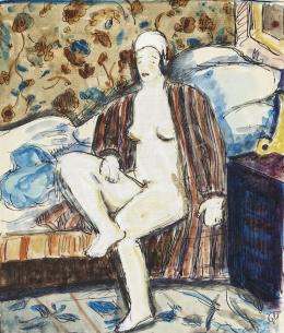 Monsion jelzéssel - Ágyból fölkelő félmeztelen nő