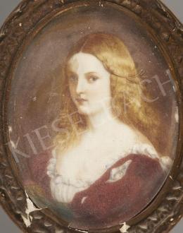 H.O. jelzéssel - Szőke lány miniatűr-portréja