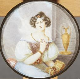 Signed as Mansion - Woman with Jewel-Boksz and Amphora