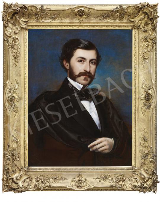 Borsos József - Fiatal nemes portréja, 1855 | 54. Téli aukció aukció / 9 tétel