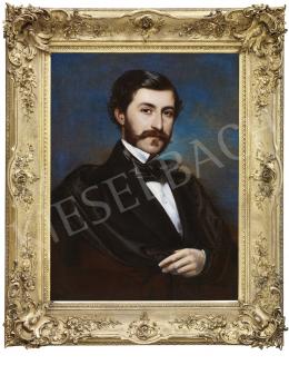 Borsos József - Fiatal nemes portréja, 1855