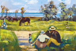 Réth Alfréd - Piknik a tengerparton, 1916 körül