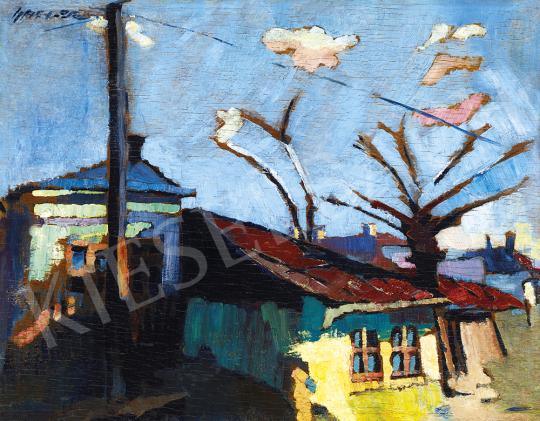 Nagy Oszkár - Nagybányai házak (Koratavasz) | 54. Téli aukció aukció / 15 tétel