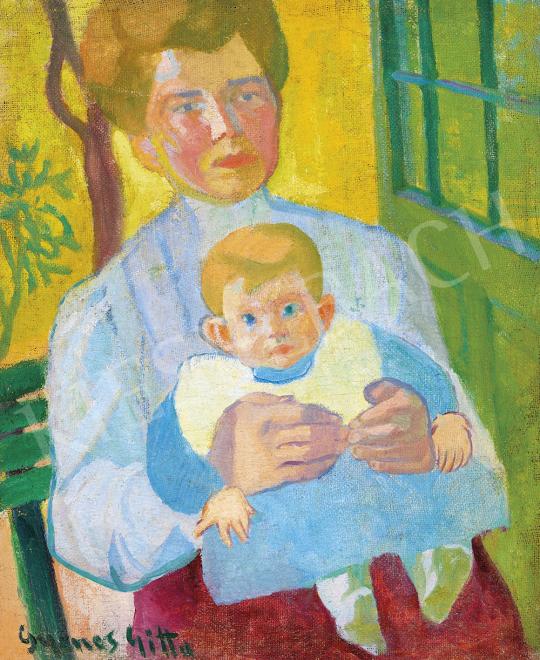 Gyenes Gitta - Anya gyermekével, 1910-es évek eleje | 54. Téli aukció aukció / 17 tétel