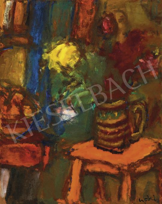 Czóbel Béla - Műtermi csendélet virágokkal | 54. Téli aukció aukció / 23 tétel