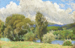 Poll, Hugó - Landscape by the River (Summer Day)