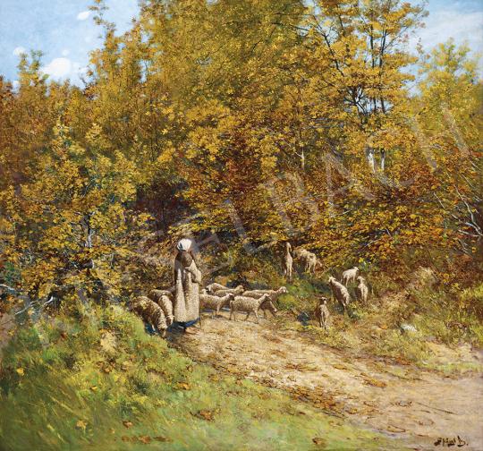 K. Spányi Béla - Ősz az erdőszélen | 54. Téli aukció aukció / 35 tétel