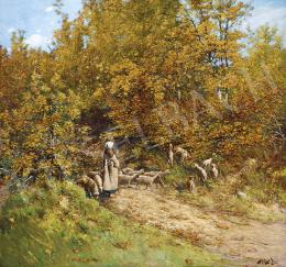 K. Spányi Béla - Ősz az erdőszélen