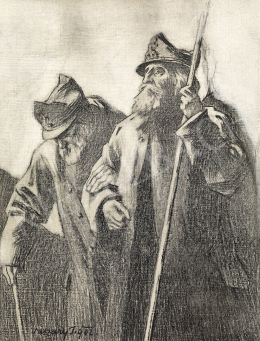 Vaszary, János - Drawing for the Frontcover of the Book, 1848-49 Hungarian Revolution, 1902