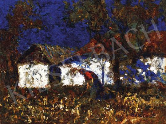 Koszta József - Napsütötte kertben, 1930-as évek vége | 54. Téli aukció aukció / 45 tétel