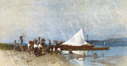 Mészöly Géza - Balatonpart ( A fehér vitorla), 1874