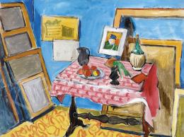 Fenyő György - Párizsi műterem Van Gogh portréval