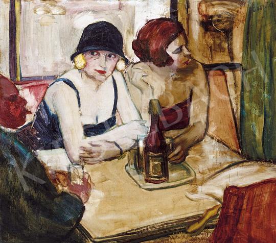Emőd Aurél - Párizsi kávéházban, 1930-as évek | 54. Téli aukció aukció / 54 tétel