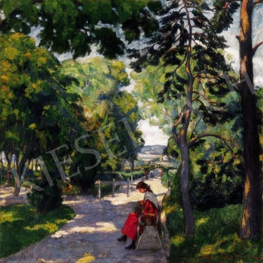 Kádár Géza - Nagybányai parkban | 24. Aukció aukció / 147 tétel