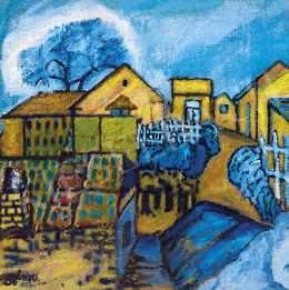 Balázs, János - Houses on the Hillside
