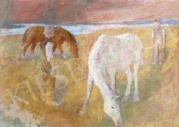 Szőnyi István - Legelő lovak, 1935
