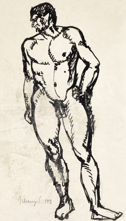 Tihanyi Lajos - Férfi akt, 1908