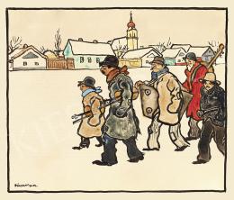 Pólya Tibor - Hazafelé a mulatságból (Tél Szolnokon)