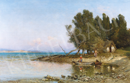 Valentiny, János - Lake Balaton with Fishermen's Cottage