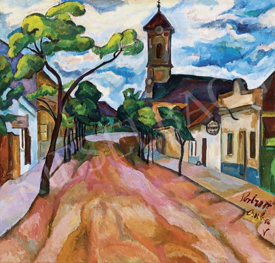 Perlrott Csaba Vilmos - Kisváros kék felhőkkel, 1913-14 | 54. Téli aukció aukció / 82 tétel