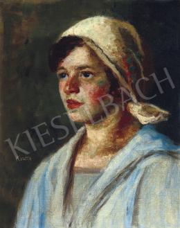 Koszta József - Kék blúzos lány (Annuska), 1920 körül