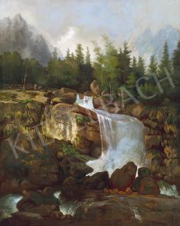 Telepy Károly - Hegyvidéki vízesés (Tátra)